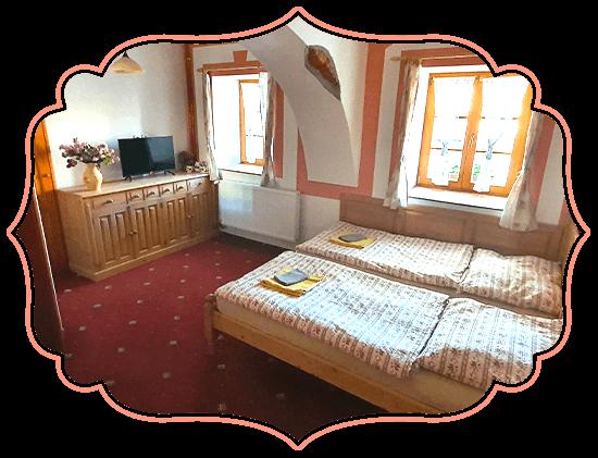 Ubytování v jižních Čechách pokoj odpočinkový